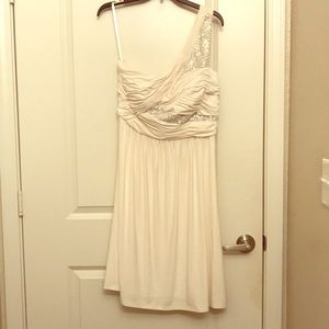 Beautiful White One Shoulder Dress by Max & Cleo